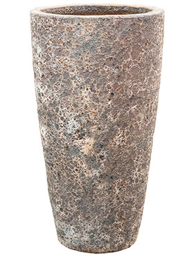 Lava - Partner Straight Relic Rust Metal Bloempot 35x65