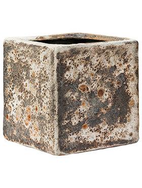 Lava - Cube Relic Rust metal pot (glazed inside) 16 cm