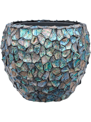 Oceana Pearl Abalone - Couple Dark Blue Ø50 (met binnenbak)