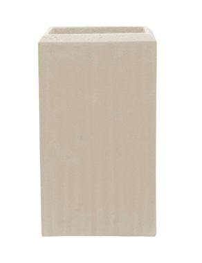 Polystone Square vase naturel