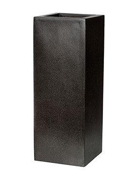 Capi Lux Pot vierkant II zwart 35 Cm.