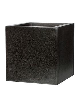Capi Lux Pot vierkant IV zwart 50 Cm.