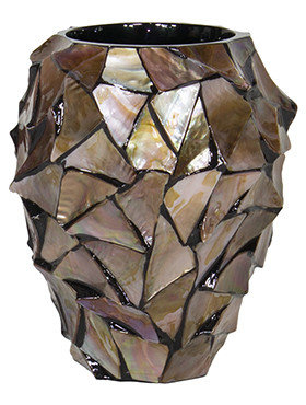 Coast Orchid Planter Brown mother of pearl 17 Cm.