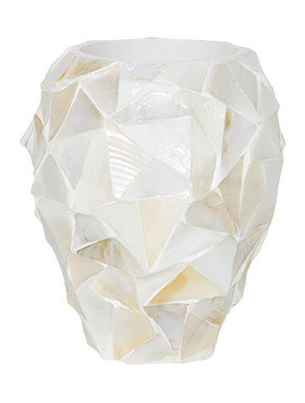 Coast Orchid Planter White mother of pearl 17 Cm.
