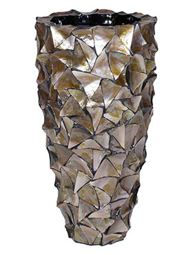 Coast Planter Mother of pearl brown 77 Cm