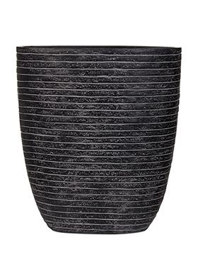 Capi Nature ovale pot row III zwart 33 cm