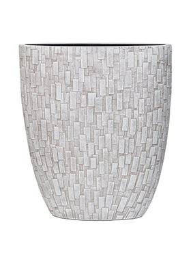 Capi Nature ovale pot stone III ivoor 33 cm