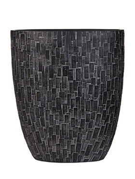 Capi Nature ovale pot stone III zwart 33 cm