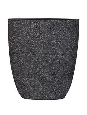 Capi Nature ovale pot wood III zwart 33 cm