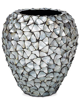 Coast Planter Mother of Pearl Silver Blue 80 cm