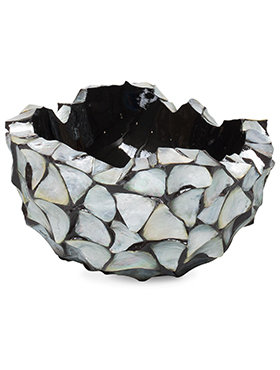 Coast Bowl Mother of Pearl Silver Blue 40 cm