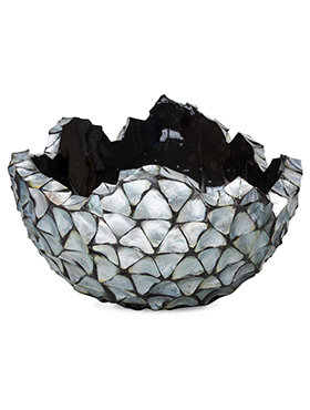 Coast Bowl Mother of Pearl Silver Blue 70 cm