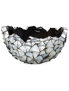 Coast Bowl Mother of Pearl Silver Blue 60 cm