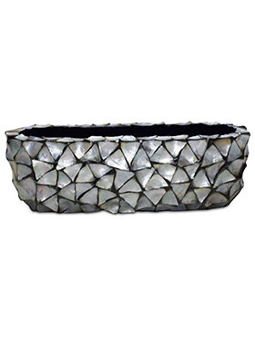 Coast table top planter Mother of Pearl Silver Blue 60 cm