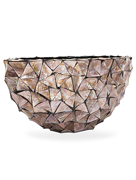 Coast Ovaal Mother of Pearl Brown 60 cm