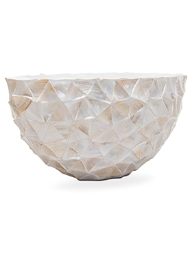 Coast Ovaal Mother of Pearl White 60 cm