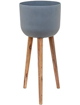 Bloempot Retro Landon grijs 86 cm