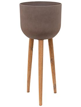 Bloempot Retro Landon bruin 97 cm