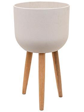 Bloempot Retro Logan natuurlijk wit 73,5 cm