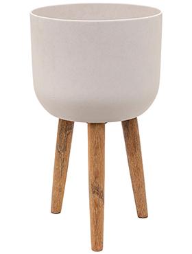 Bloempot Retro Logan natuurlijk wit 62,5 cm