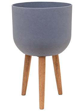 Bloempot Retro Logan donker grijs 73,5 cm