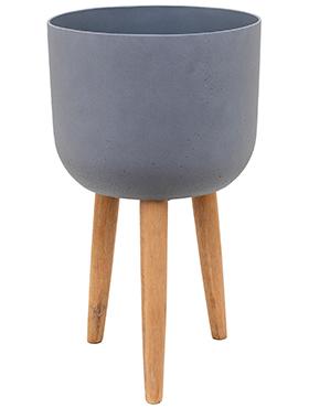Bloempot Retro Logan donker grijs 62,5 cm