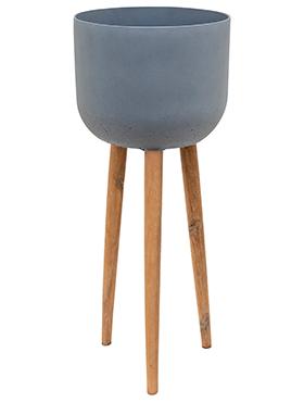Bloempot Retro Landon grijs 97 cm
