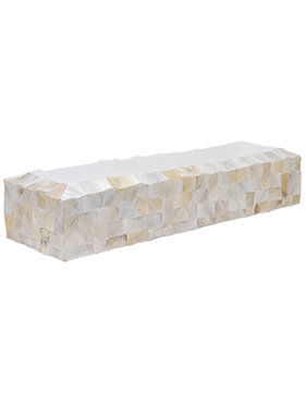 Oceana Pearl Table Planter - Rectangle White 80 cm