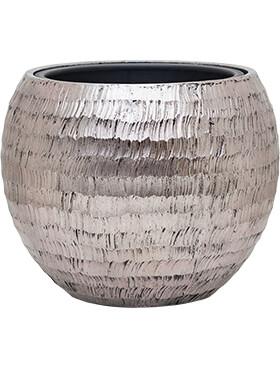 Bloempot Opus Globe ham zilver40 x 32inclusief binnenbak
