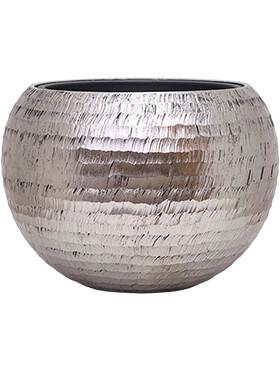Bloempot Opus Globe ham zilver 60x 43inclusief binnenbak