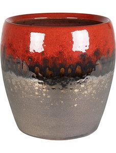 Bloempot Amora Black Red 17 cm