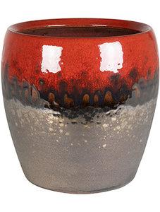 Bloempot Amora Black Red 21 cm