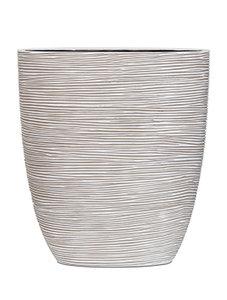 Capi Nature ovale pot rib III ivoor 33 cm