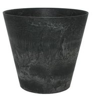 Artstone Claire Pot black