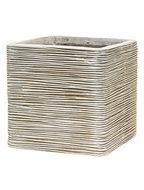 Image of Capi Nature Pot vierkant rib II ivoor 40 Cm. 12029