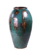 Vaas vase blue mystic 105 cm.  maatvoering: diameter 52cm. hoogte: 105cm. (diameter betreft de buitenzijde ...