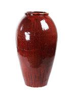 Vaas vase red black mystic 105 cm.  maatvoering: diameter 52cm. hoogte: 105cm. (diameter betreft de ...
