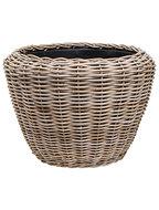 Drypot Rattan - Round, grey, Outdoor