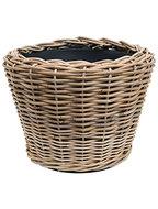 Drypot Rattan - Round, grey