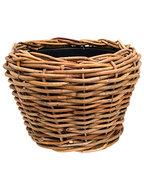 Drypot Rattan (thick) - Round, brown