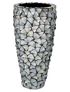 Shell Planter - Mother of pearl silver-blue