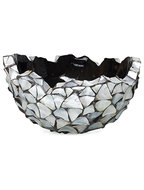 Shell Bowl - Mother of pearl silver-blue