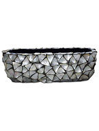 Shell Table Top Planter - Mother of pearl silver-blue