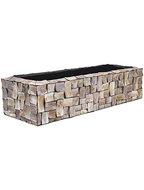 Oceana Pearl Table Planter - Rectangle Brown 100 cm